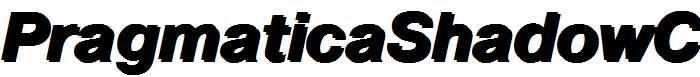 PragmaticaShadowC-Bold-Italic