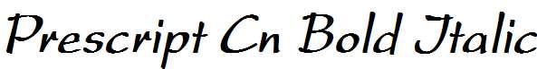 Prescript-Cn-Bold-Italic