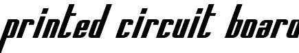 PrintedCircuitBoard-Italic