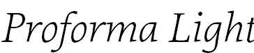 Proforma-LightItalic