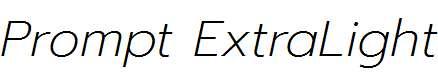 Prompt-ExtraLight-Italic