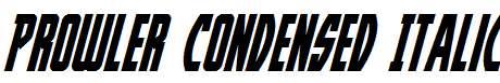 Prowler-Condensed-Italic