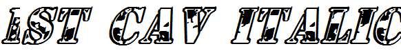 1st-Cav-Italic
