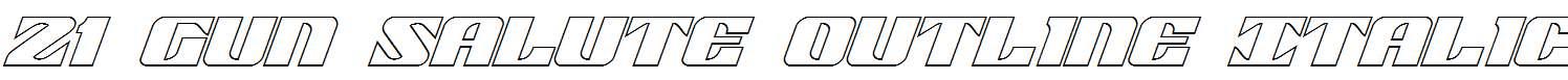 21-Gun-Salute-Outline-Italic