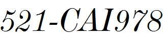 521-CAI978