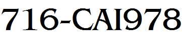 716-CAI978
