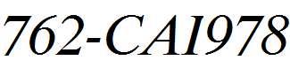 762-CAI978