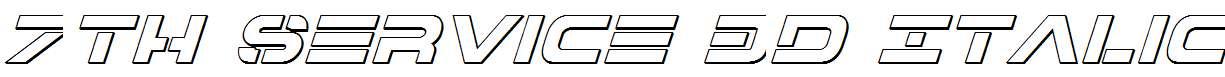 7th-Service-3D-Italic