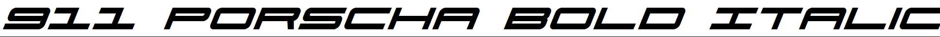 911-Porscha-Bold-Italic
