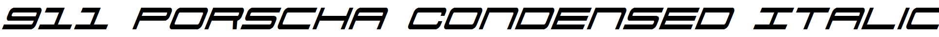 911-Porscha-Condensed-Italic
