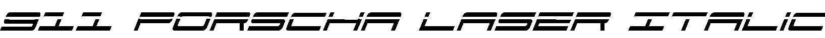 911-Porscha-Laser-Italic