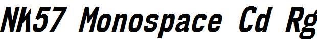 NK57MonospaceCdRg-BoldItalic
