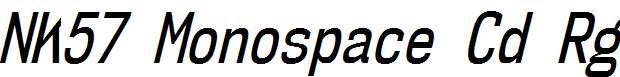 NK57MonospaceCdRg-Italic