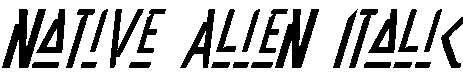 Native-Alien-Italic