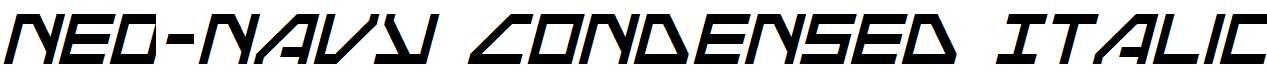 Neo-Navy-Condensed-Italic