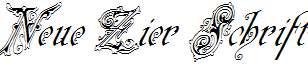 Neue-Zier-Schrift