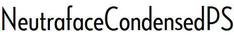 NeutrafaceCondensedPS-MediumAlt
