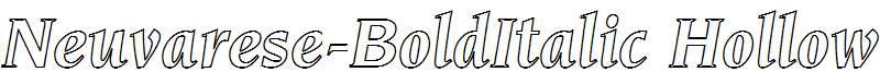 Neuvarese-BoldItalic-Hollow