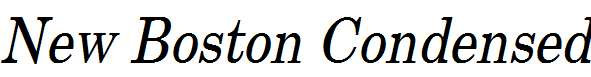 New-Boston-Condensed-Italic