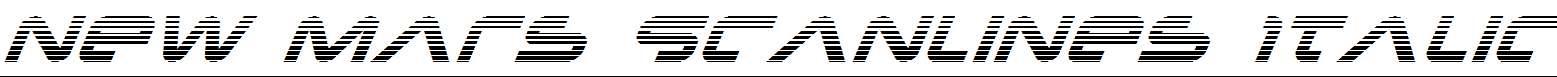 New-Mars-Scanlines-Italic