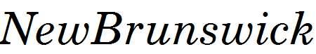 NewBrunswick-Italic
