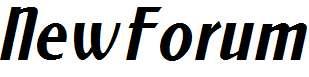 NewForum-Italic