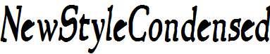 NewStyleCondensed-Bold-Italic
