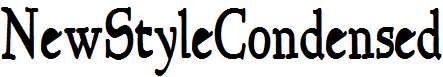 NewStyleCondensed-Bold