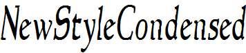 NewStyleCondensed-Italic