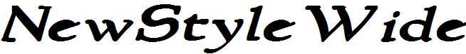 NewStyleWide-Bold-Italic