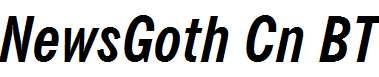 NewsGoth-Cn-BT-Bold-Italic