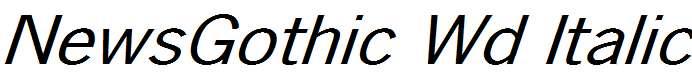 NewsGothic-Wd-Italic