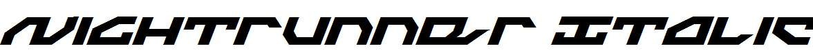 Nightrunner-Italic