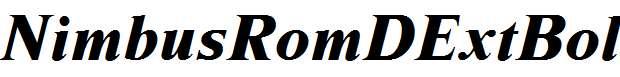 NimbusRomDExtBol-Italic