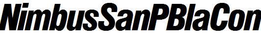 NimbusSanPBlaCon-Italic