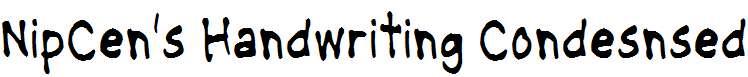 NipCen-s-Handwriting-Condesnsed