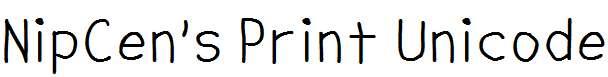 NipCen-s-Print-Unicode
