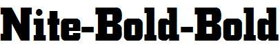 Nite-Bold-Bold