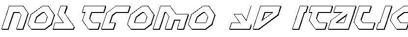 Nostromo-3D-Italic