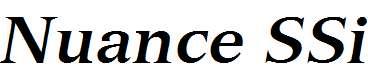 Nuance-SSi-Bold-Italic