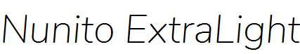 Nunito-ExtraLight-Italic