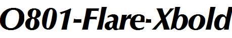 O801-Flare-Xbold-Italic