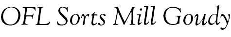 OFLGoudyStM-Italic