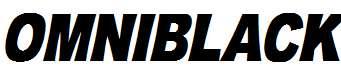 OMNIBLACK-Italic