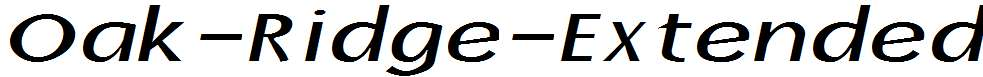 Oak-Ridge-Extended-Italic