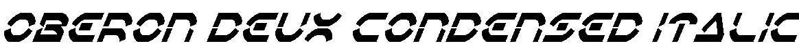 Oberon-Deux-Condensed-Italic