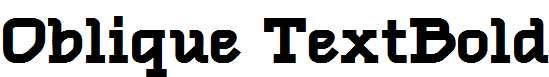 Oblique-TextBold