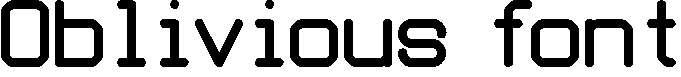 Oblivious-font-copy-3-