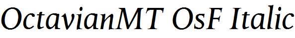 OctavianMT-OsF-Italic