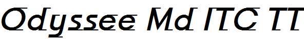 Odyssee-Md-ITC-TT-MediumItalic